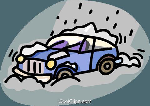 freeuse stock Car clipart snow