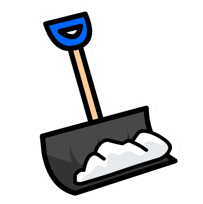 clip black and white library Blue Snow Shovel Clipart