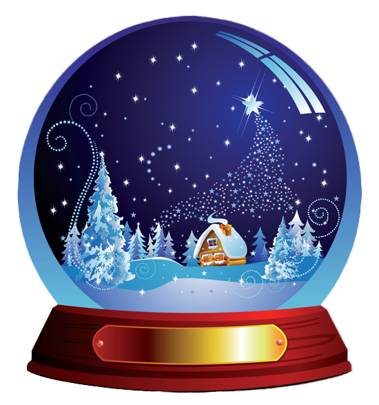image transparent stock Winter Snow Globes