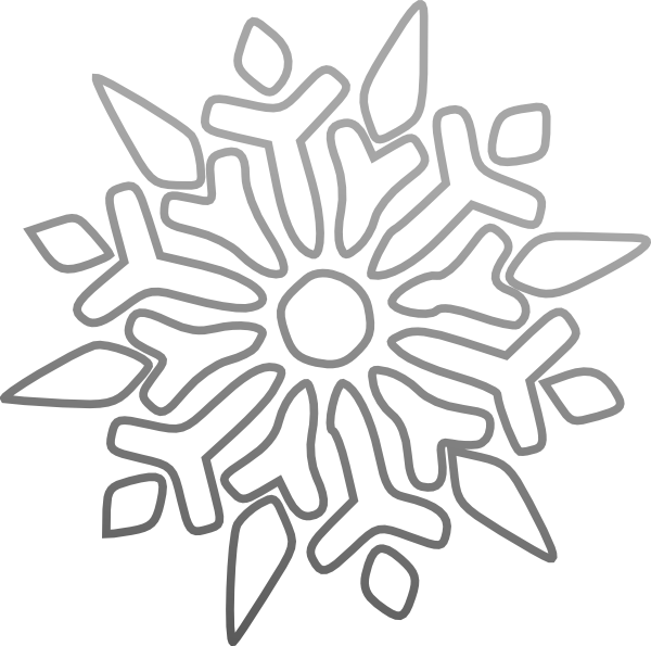 clip art black and white Snowflake Clip Art at Clker