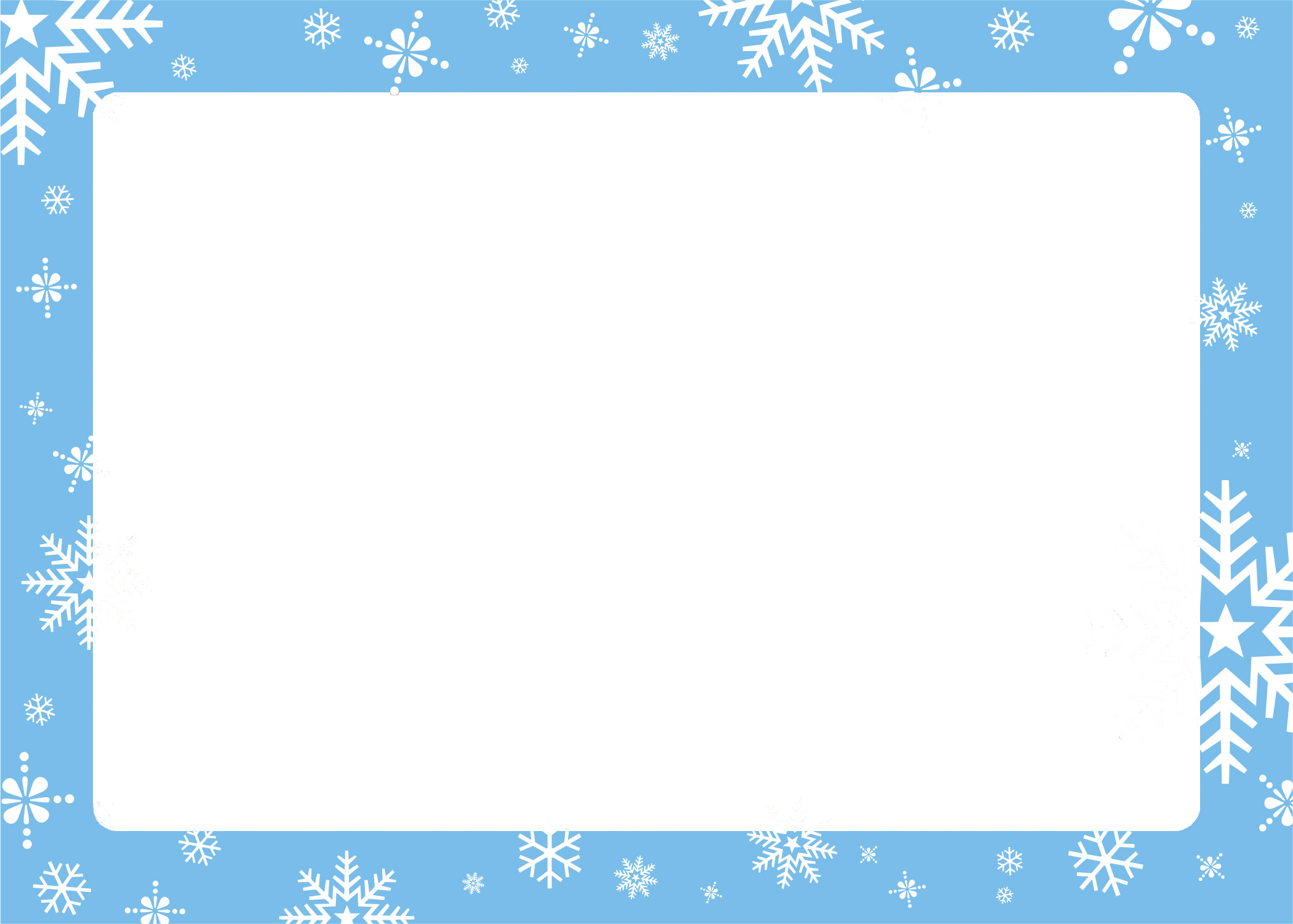 graphic free library Christmas card borders all. Clipart snowflake border