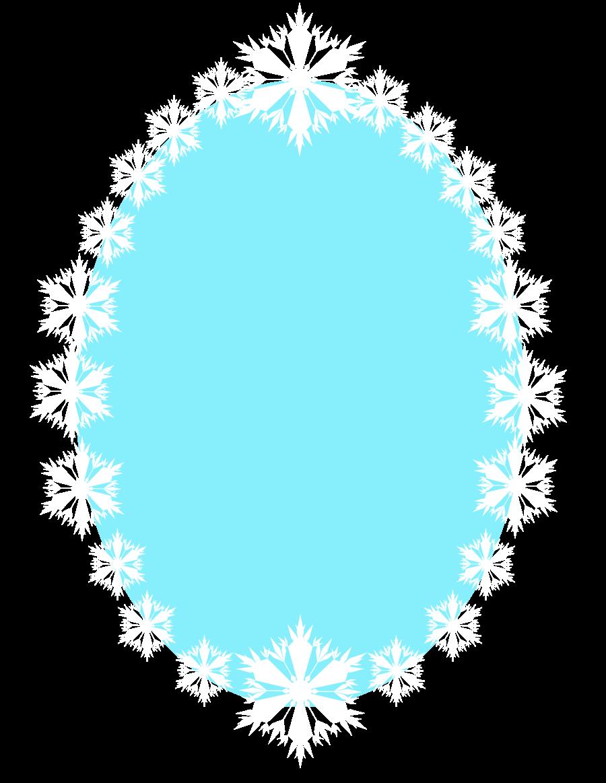 clipart transparent Clipart snowflake border. Elsa frozen film series