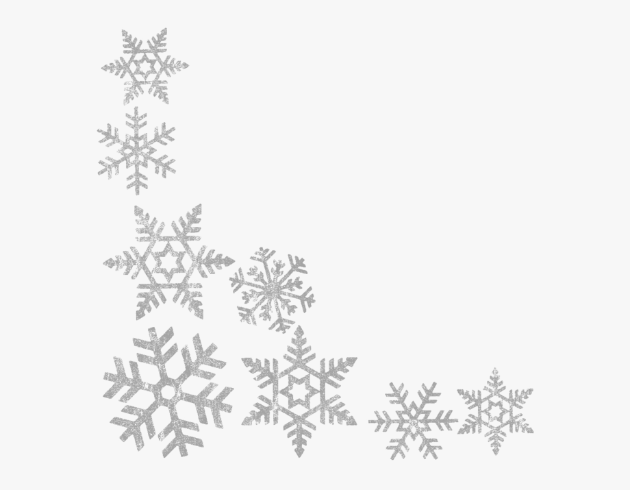 clip art black and white Picture freeuse library png. Snowflakes clipart borders