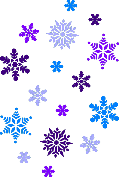 clipart royalty free Snowflake clipart. Multi blue snowflakes clip