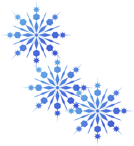 royalty free download Snowflakes Blue Clip Art at Clker