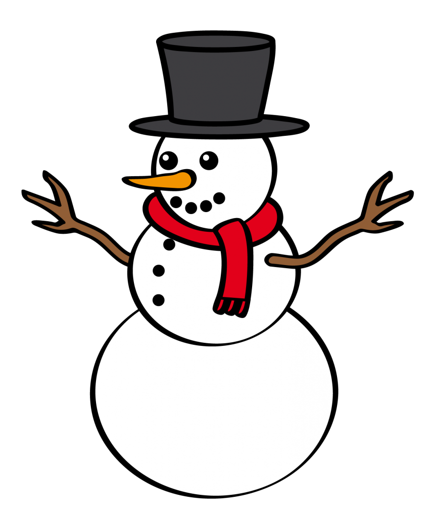 image library stock Christmas snowman clipart