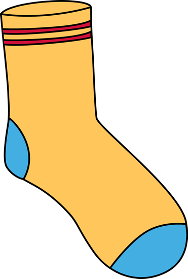 graphic transparent download Clip art images yellow. Sock clipart.