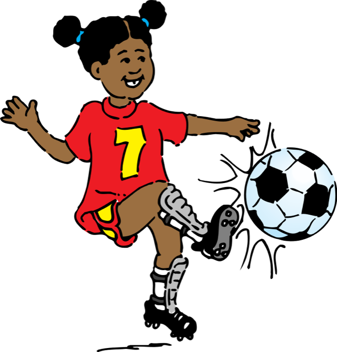png transparent Action clipart football player. Free soccer girl playing