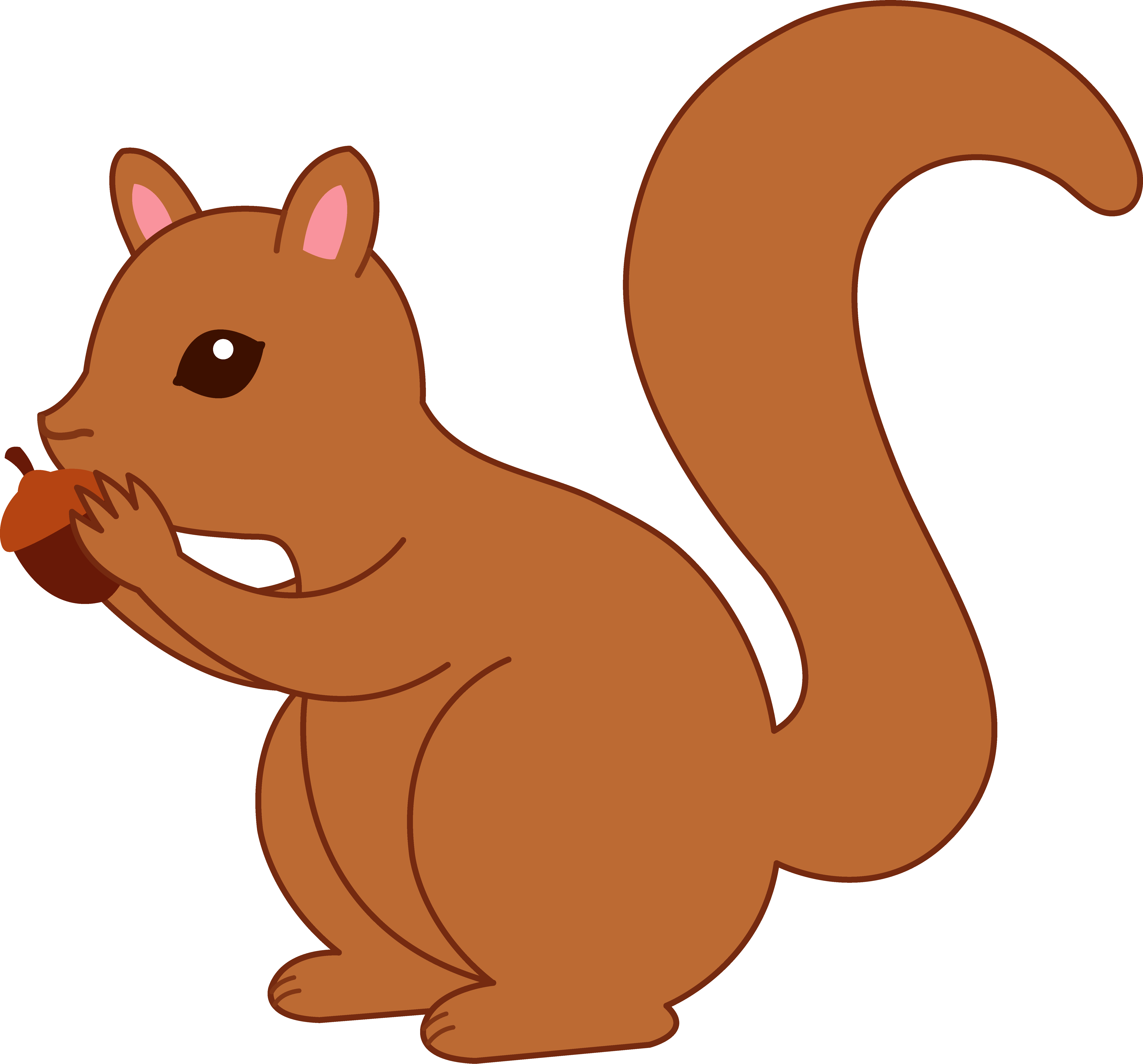 png royalty free library Chipmunk clipart cute drawing. Cartoon squirrel