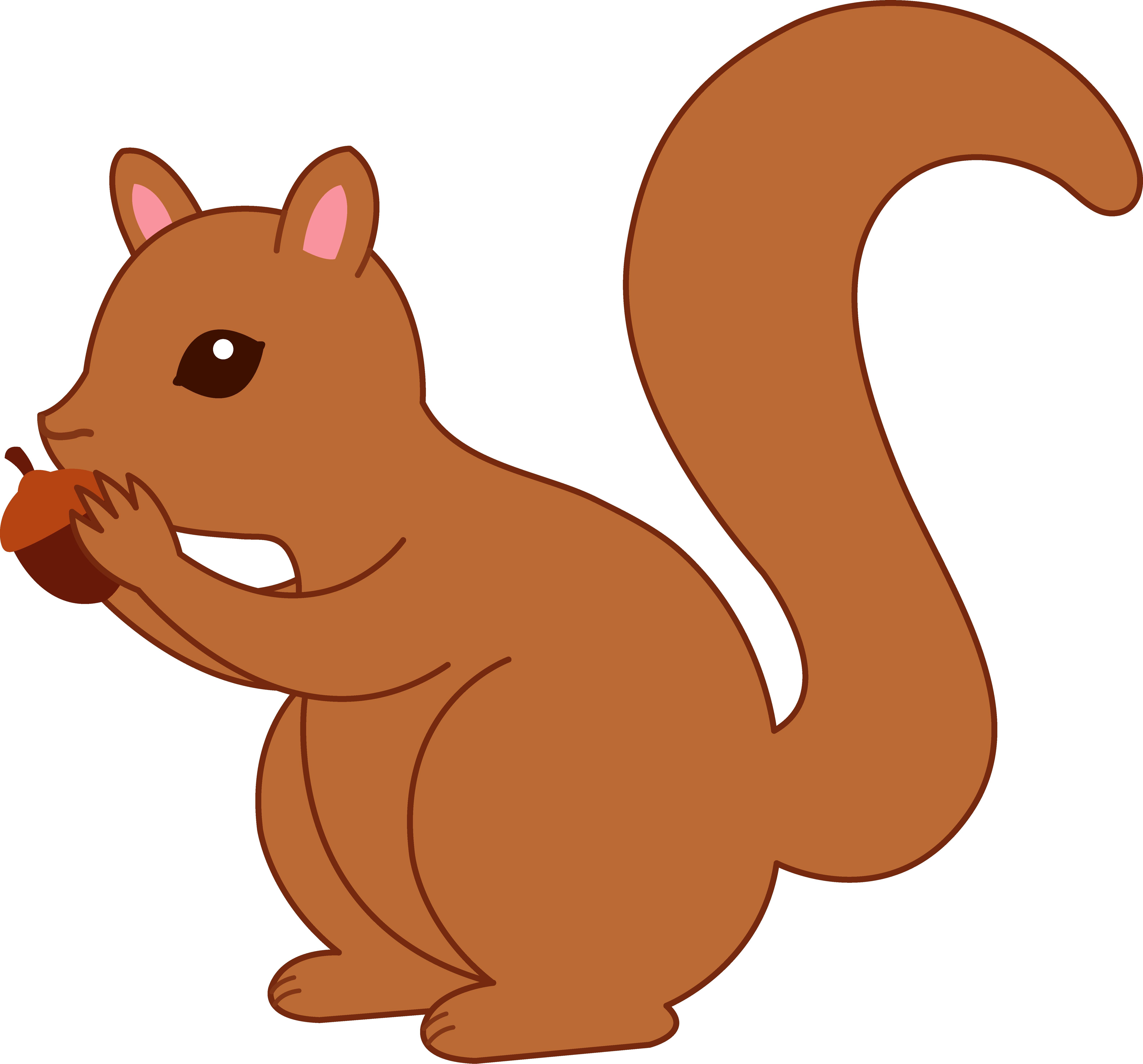 vector library stock Clipart acorn. Cartoon squirrel