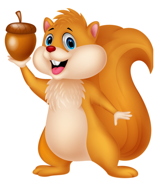 png royalty free Squirrel with acorn png. Chipmunk clipart cute drawing