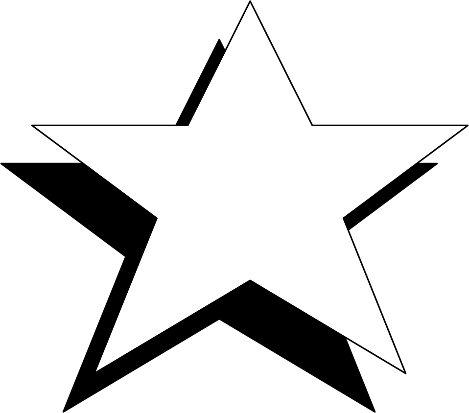 clipart freeuse library Image of. Clipart stars black and white