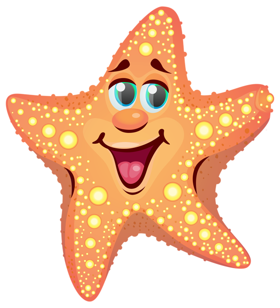 clipart library library Cartoon Starfish PNG Clipart Image