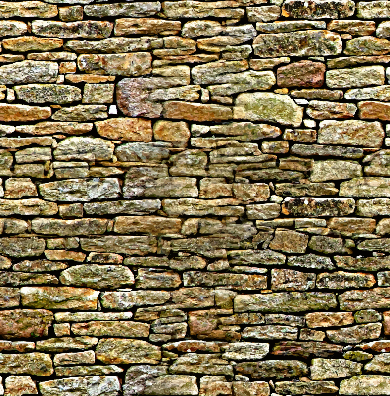 vector royalty free stock Clipart stone wall. Rock background brick transparent