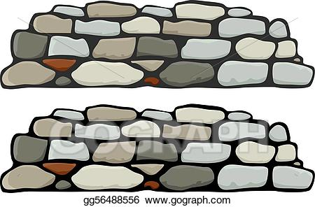 picture freeuse library Clipart stone wall. Vector illustration i eps