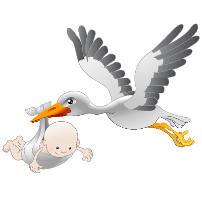 vector library stock Stork With Baby