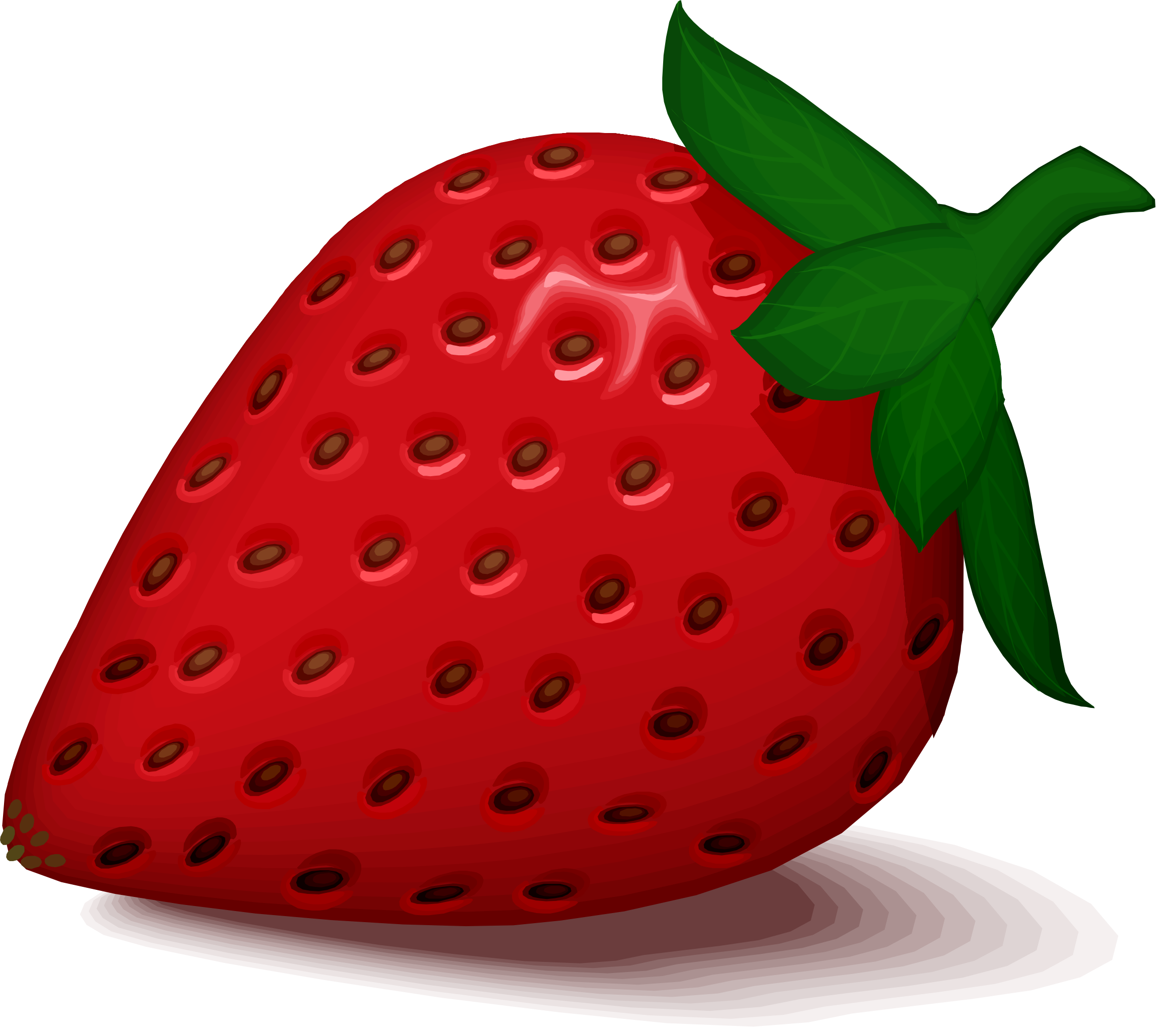picture free library Clipart strawberry. Big image png