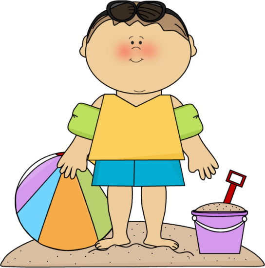 clipart free download Summer little boy on. Yoga clipart beach