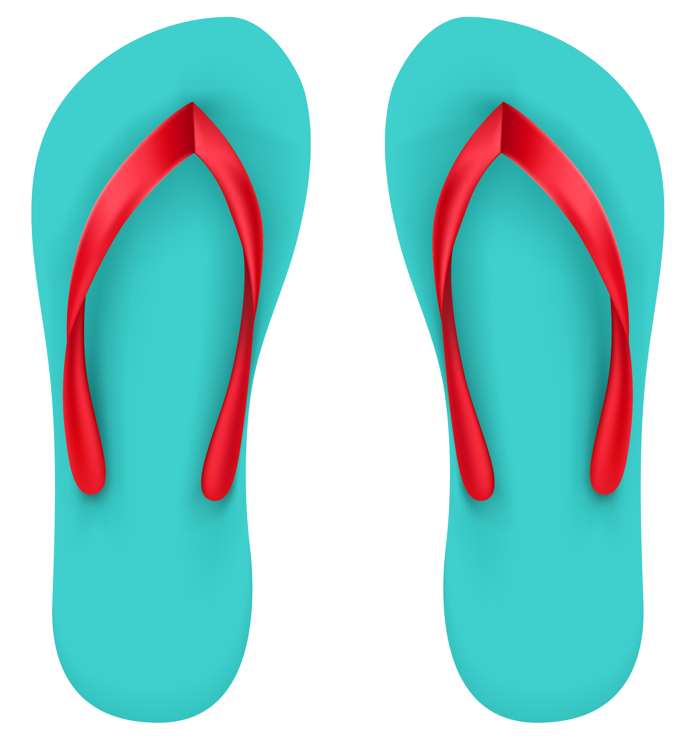 graphic royalty free stock Aqua Beach Flip Flops PNG Clipart