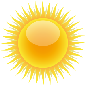 free Free sun public domain. Sunshine clipart