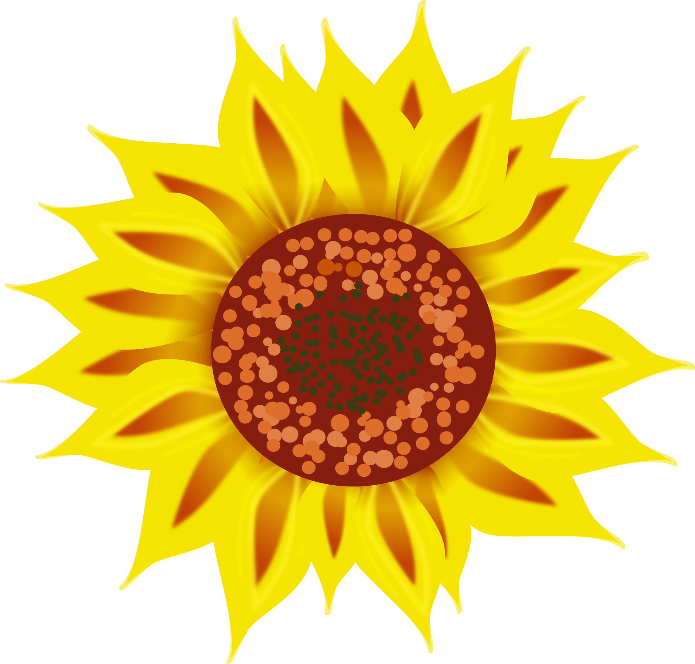svg free library Clipart sunflower.