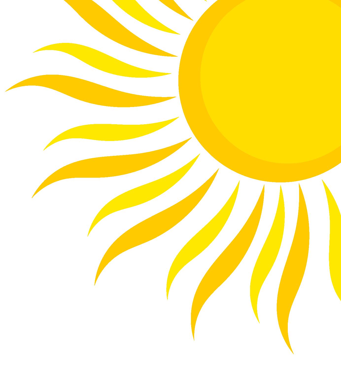 clip free library Sunshine quarter free on. Half sun clipart black and white