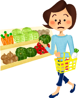 clip art freeuse download Woman shopping vegetables at. Clipart supermarket