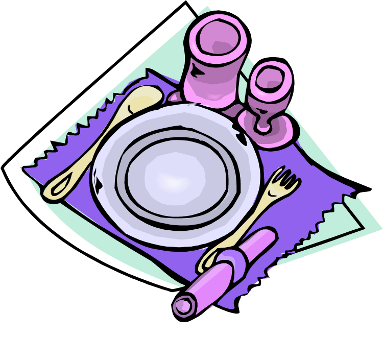 clip art transparent Dinner table clip art. Set clipart.