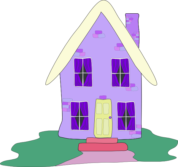 clip freeuse download Lilac House Clip Art at Clker