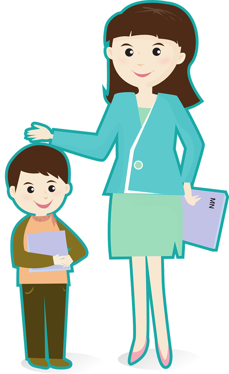 banner transparent teacher with students clipart #67698818