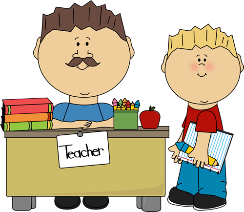 clip library Teacher working with students clipart. Male .