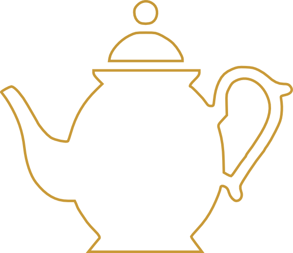svg library stock Teacup clipart free. Teapot black and white