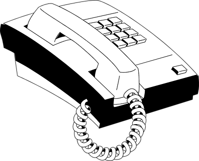 svg royalty free download Phone clipart black and white.  collection of telephone