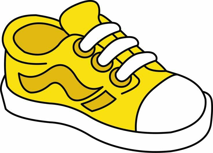 vector Clipart tennis shoes. Shoe yellow cliparts free