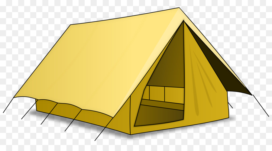 image library download Cartoon camping yellow transparent. Clipart tent