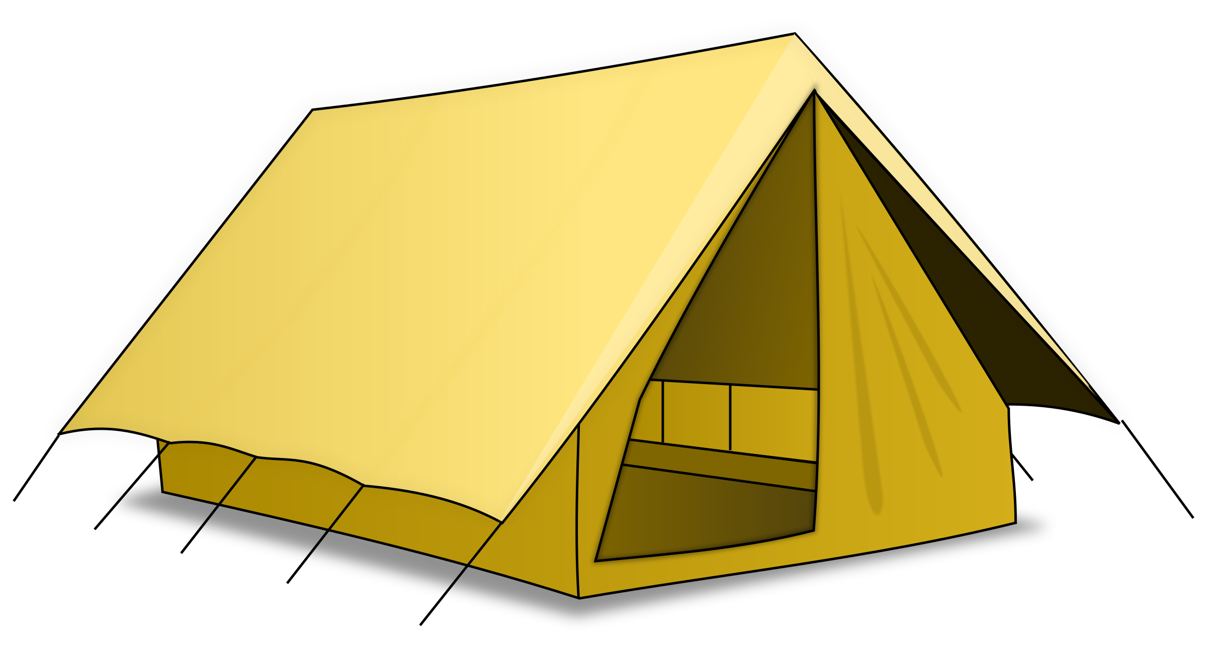 graphic royalty free Tent clipart. Clip art nicubunu rpg.