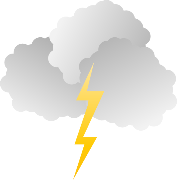 picture royalty free Clouds And Lightning Clip Art at Clker