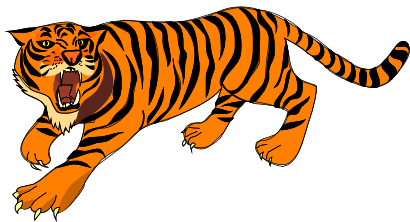 picture free library Public domain . Tiger clipart