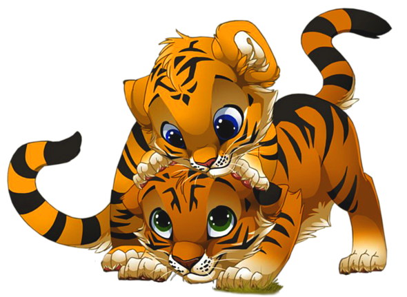 clipart freeuse Cute little tigers png. Good clipart tiger body