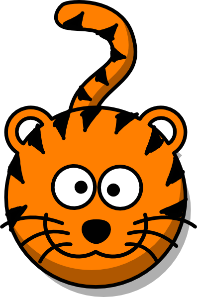 svg black and white stock Good clipart tiger body. Baby face clip art