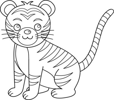 transparent download Tiger clipart black and white. Clipartaz free collection baby