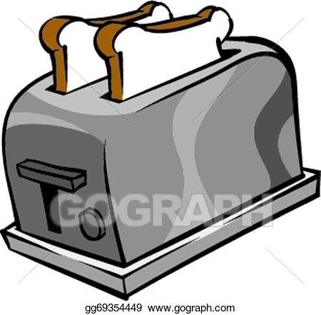 svg black and white library Vector stock illustration gg. Clipart toaster