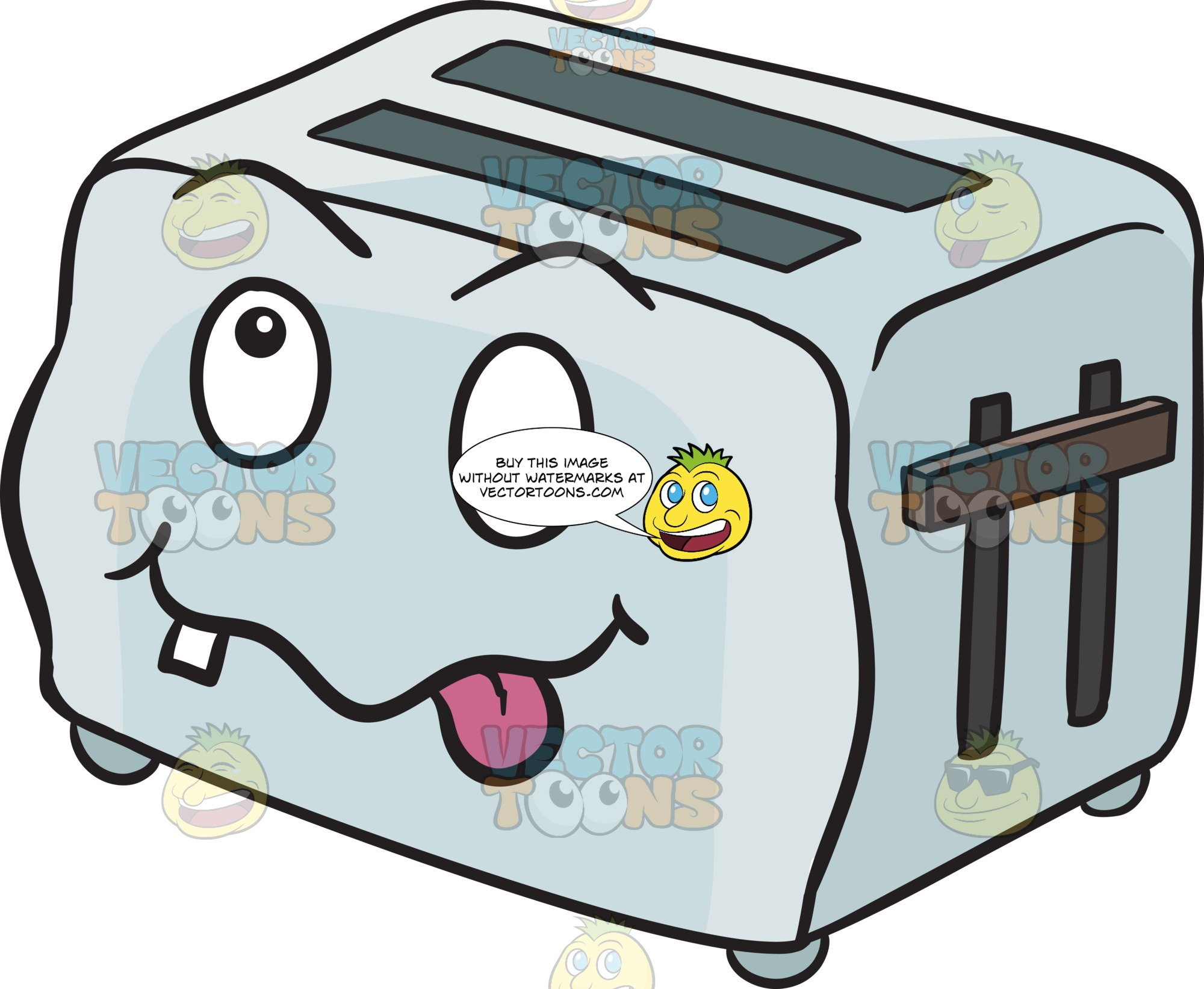 png royalty free stock Crazy looney pop up. Clipart toaster