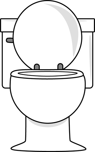 clip art free download White Toilet with Lid Up Clip Art