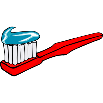 vector black and white Red Toothbrush Clipart transparent PNG
