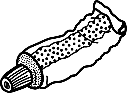 vector black and white Toothbrush and at getdrawings. Toothpaste drawing