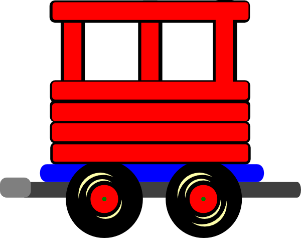 black and white library Cuboos train . Caboose clipart boxcar.
