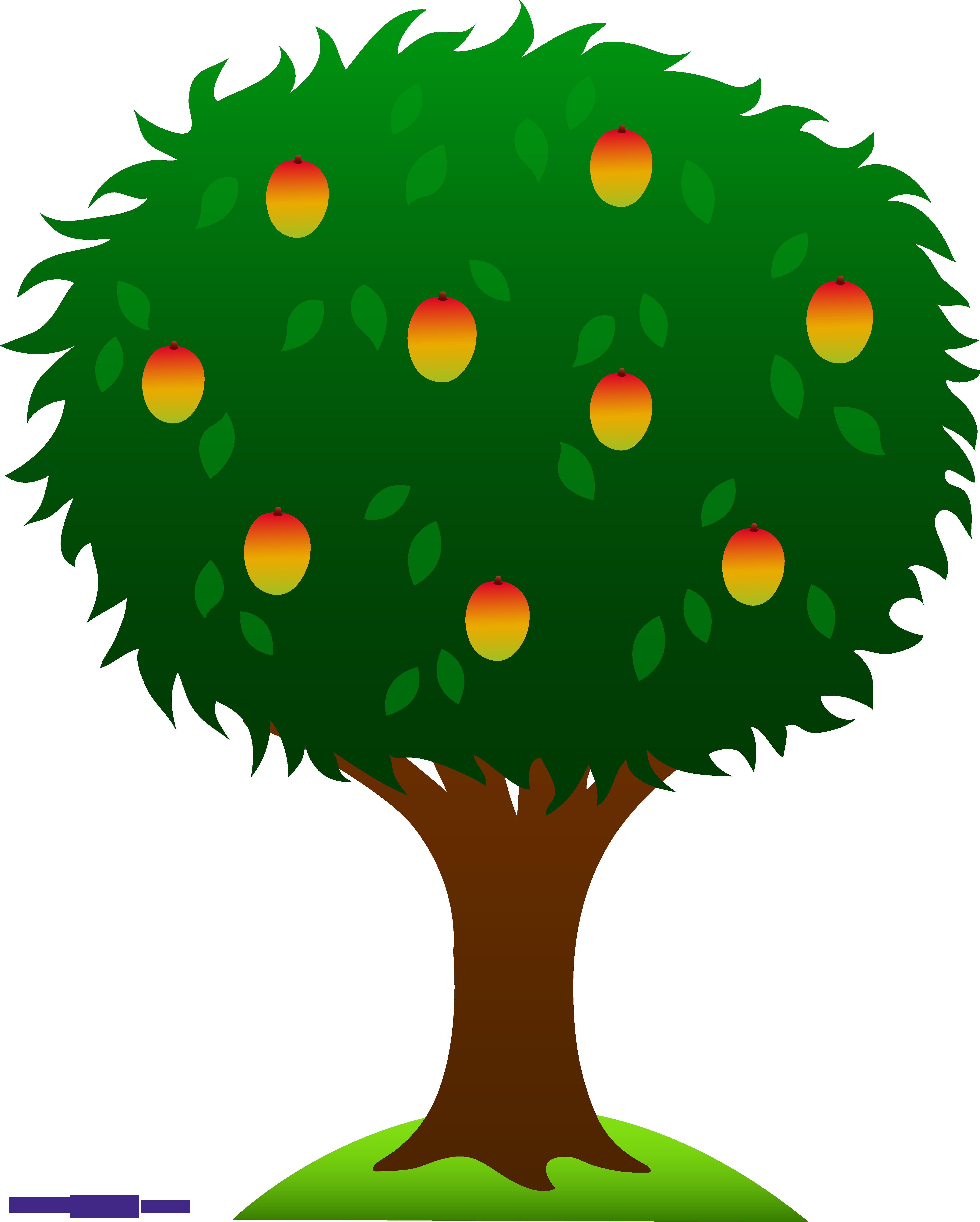 clipart free Tree sweet clip. Mango clipart line art.