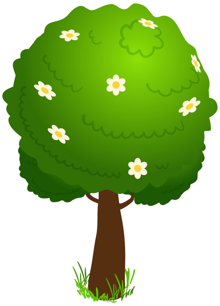 transparent library Cartoon deco tree png. Clipart kid