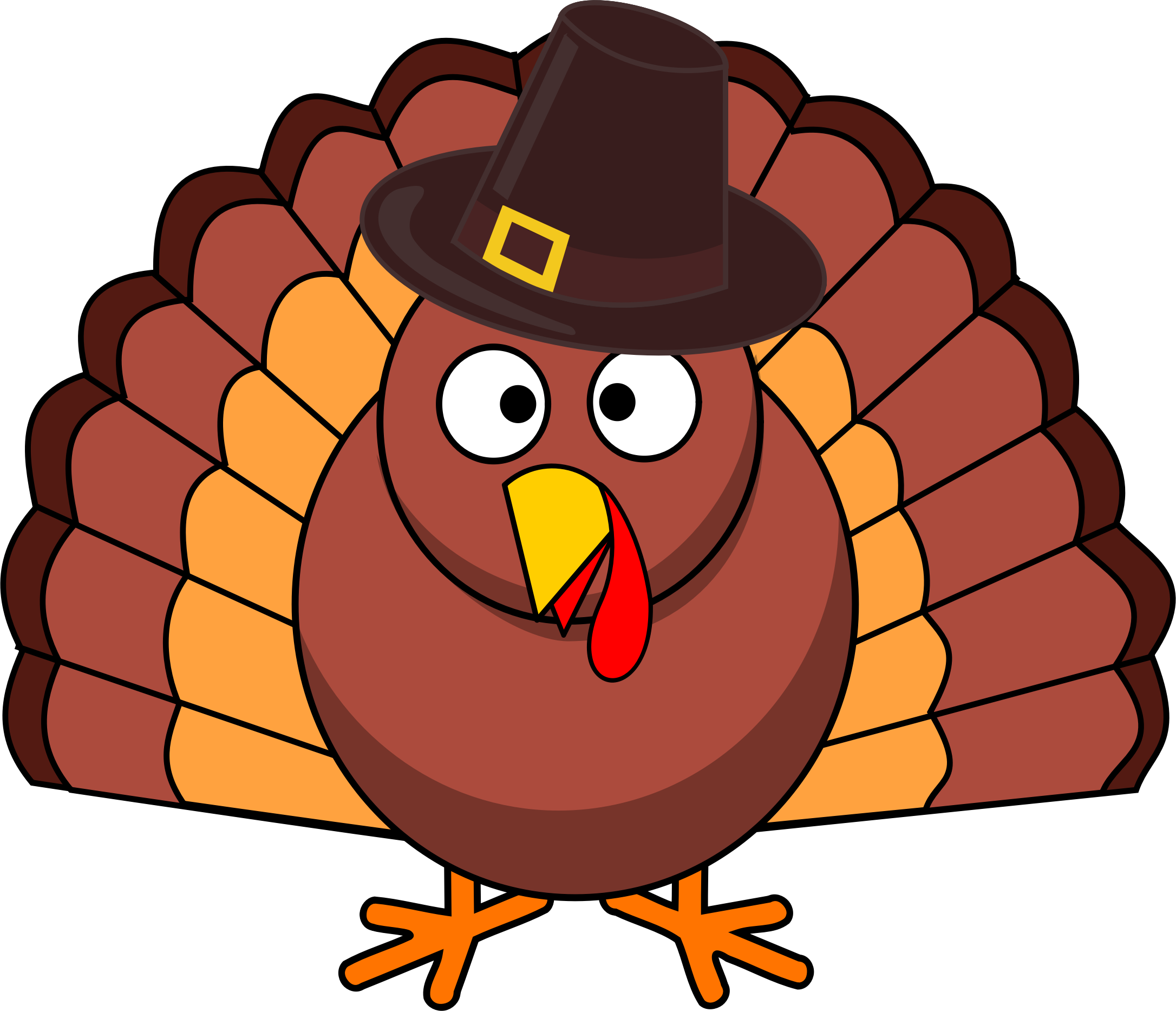 svg royalty free library Thanksgiving Turkey Clipart at GetDrawings